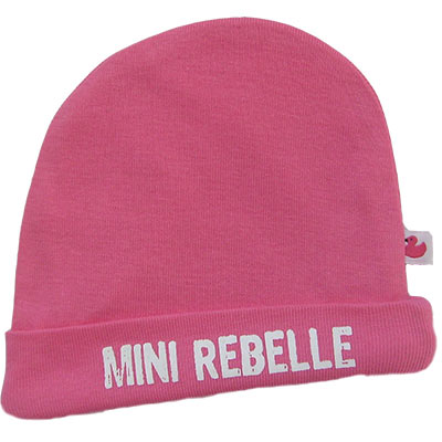 Bonnet bébé Mini Rebelle Rose