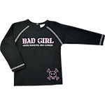 T-shirt Bad Girl manches longues