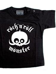 Vêtement gothique: Tshirt rock'n roll monster, pour bébé et enfant