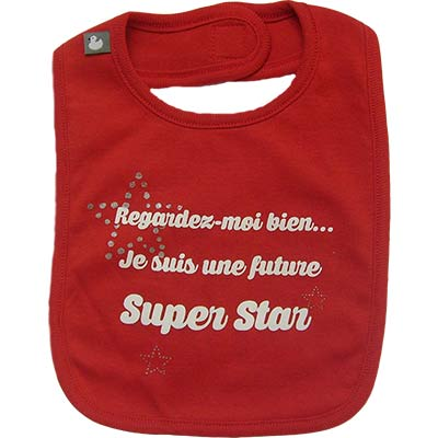 Bavoir Super Star