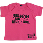 T-shirt Milk, Mom & Rock'n Roll Rose