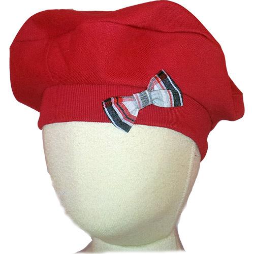 Chapeau béret rouge, noeud écossais, bébé, enfant, chic, canaille ... 09e223324b2