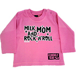 T-shirt Milk, Mom & Rock'n Roll Rose manches longues
