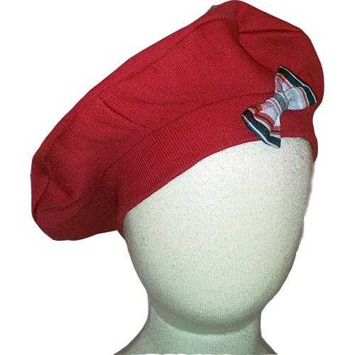 25ce5ac9fcf6 Chapeau béret rouge, noeud écossais, bébé, enfant, chic, canaille ...